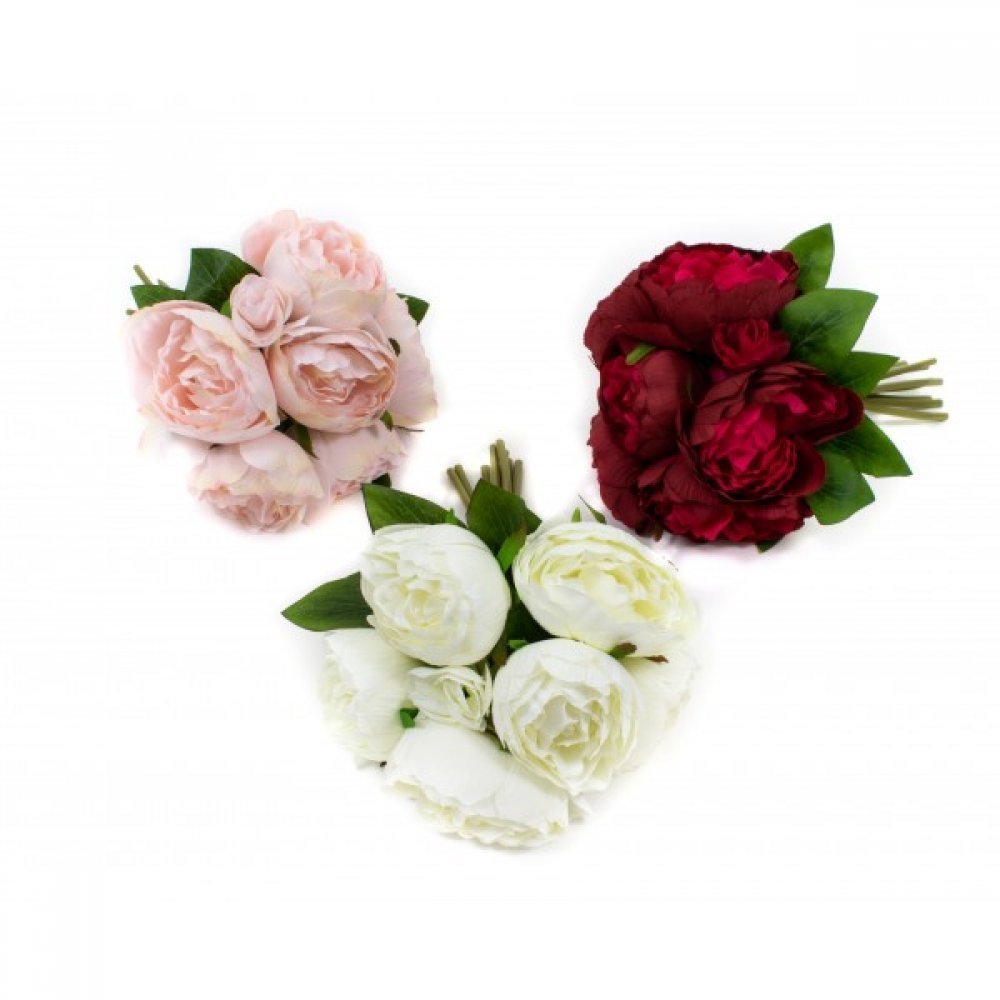 Flori Artificiale Buchet Legati 6 Flori cu 4 boboci