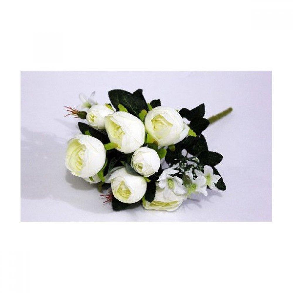 Flori Artificiale Buchet Ranunculus Alb