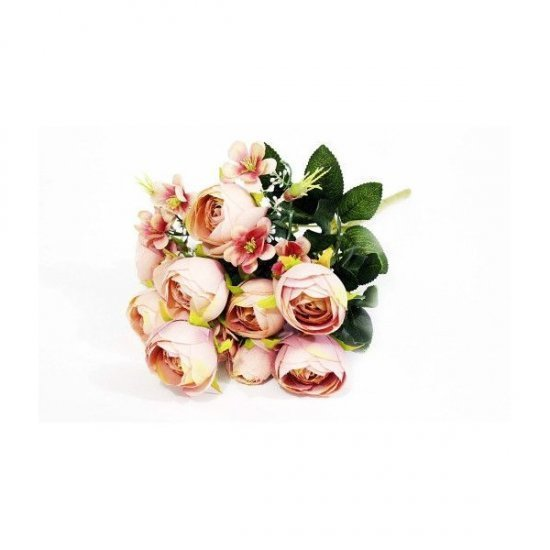 Flori Artificiale Buchet Ranunculus Roz- Bej