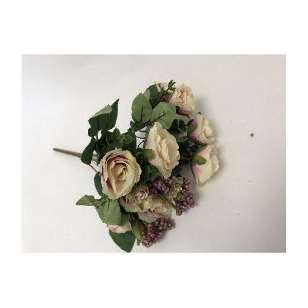 Flori Artificiale Buchet Trandafirasi Cu Bobite