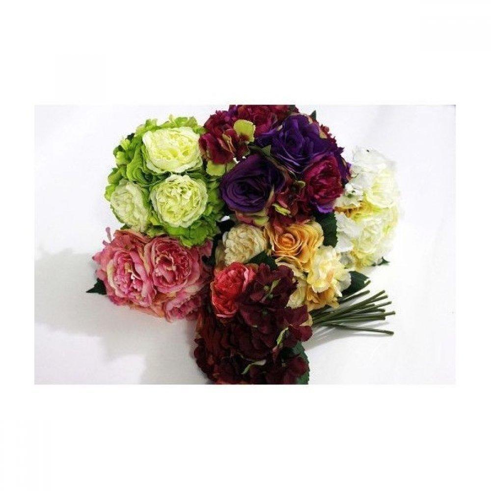 Flori Artificiale Buchetde  Trandafiri Bujori si Hortensii