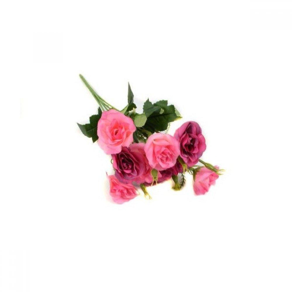 Flori Artificiale Buchet Trandafiri Cu Boboci Plastic