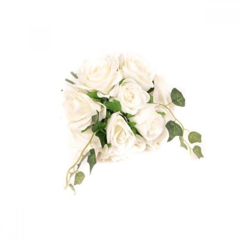 Flori Artificiale Buchet Trandafiri Cu Iedera