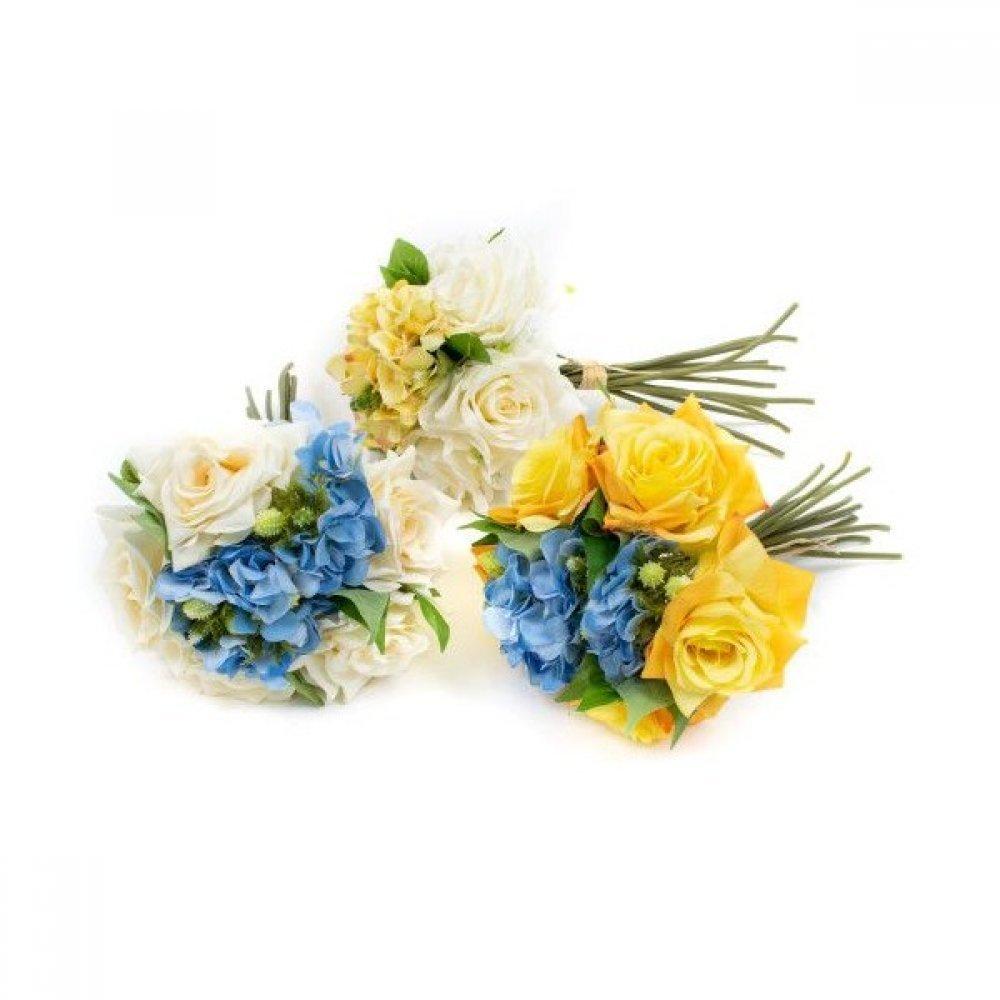 Flori Artificiale Buchet Trandafiri Hortensii Ciuline