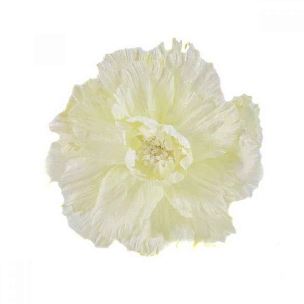 Flori Artificiale din Catifea alba  40 cm