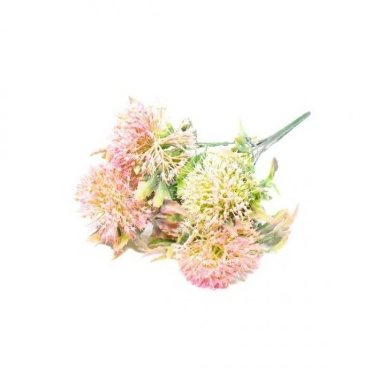 Flori Artificiale Ciulini colorati Cu Frunze Late
