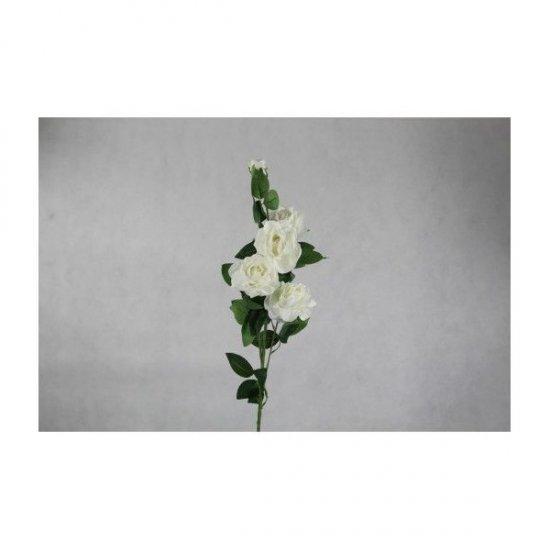Flori Artificiale Fir Trandafir cu 5 Flori Alb