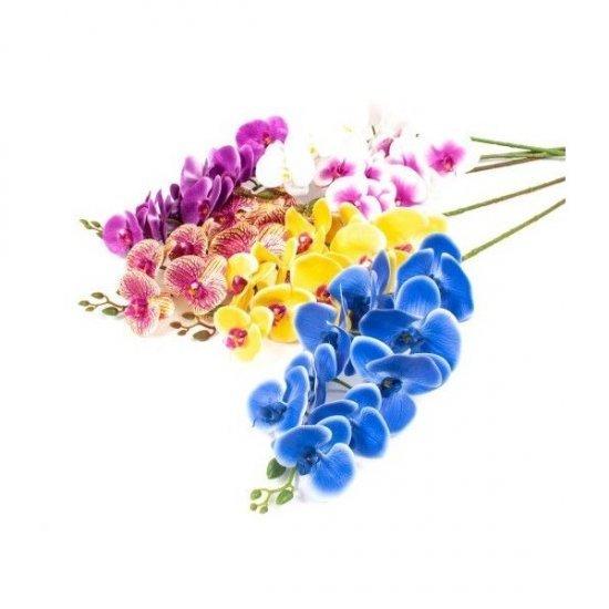 Flori Artificiale Orhidee Cu 9 Flori /Fir Din Plastic Siliconat