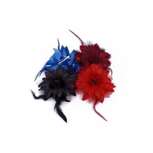 Flori Artificiale Textil cu Pene floare mare