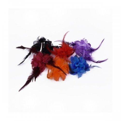 Flori Artificiale Textil cu Pene floare mica