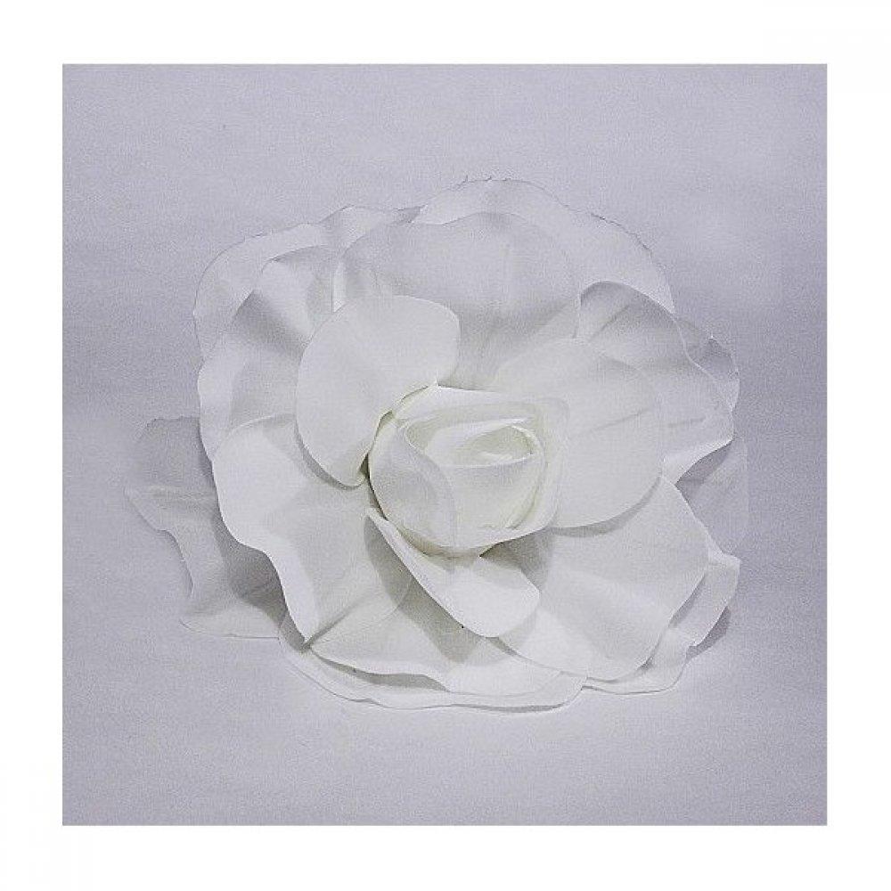Flori Artificiale Trandafir 40cm Latex Alb