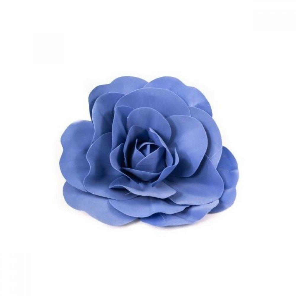 Flori Artificiale Trandafir 40cm Latex Albastru