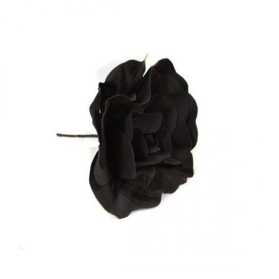 Flori Artificiale Trandafir 40cm Latex Negru