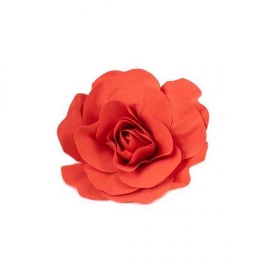 Flori Artificiale Trandafir 40cm Latex Rosu