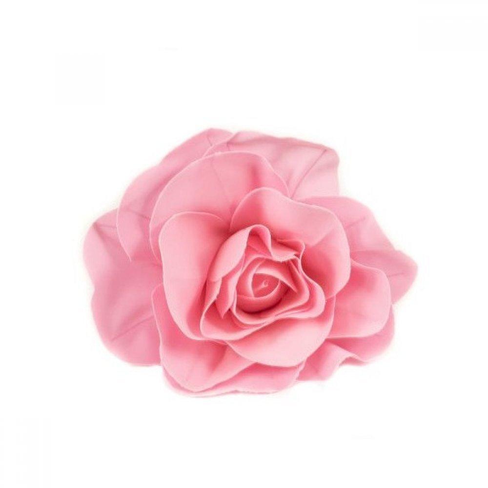 Flori Artificiale Trandafir 40cm Latex Roz