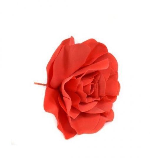 Flori Artificiale Trandafir 50cm Latex Rosu