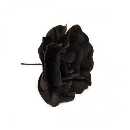 Flori Artificiale Trandafir 60cm Latex Negru