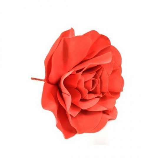 Flori Artificiale Trandafir 60cm Latex Rosu