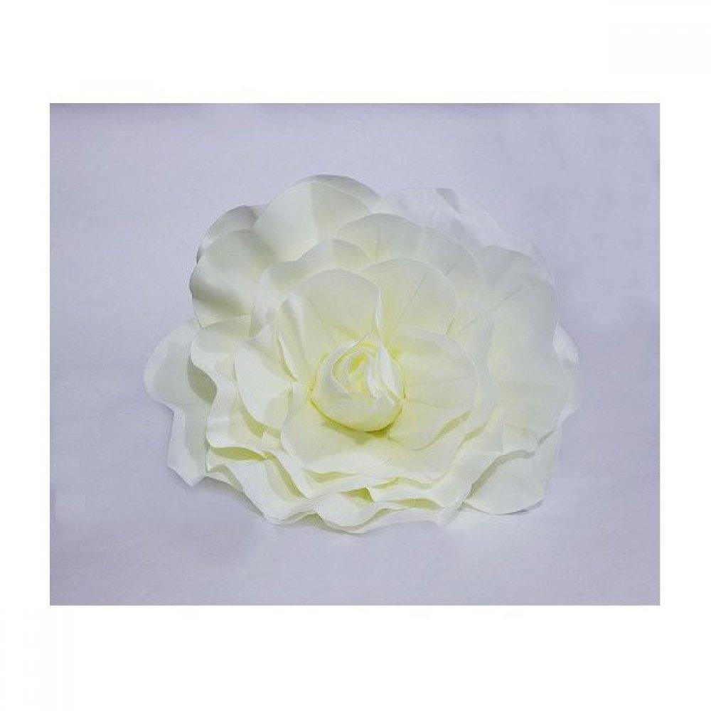 Flori Artificiale Trandafir Latex 30cm Crem