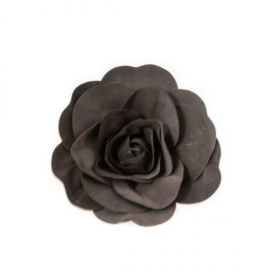 Flori Artificiale Trandafir Latex 30cm Negru