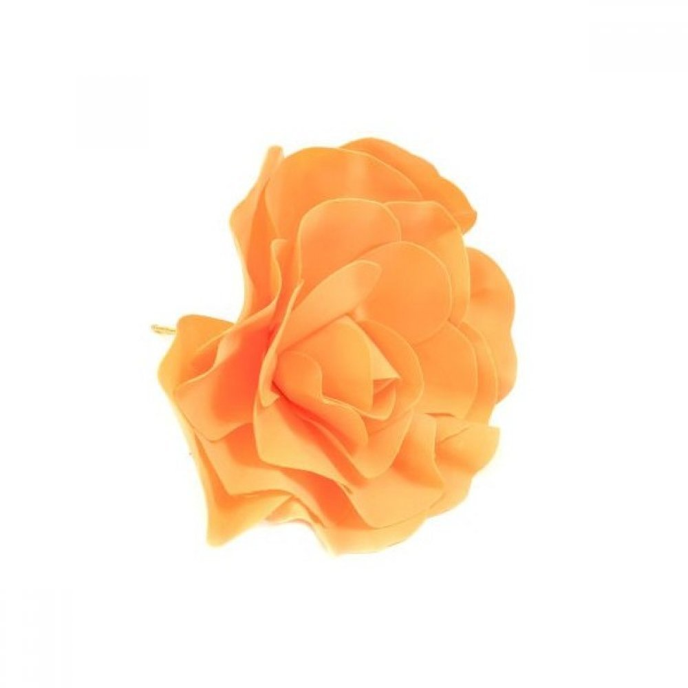 Flori Artificiale Trandafir Latex 30cm Portocaliu