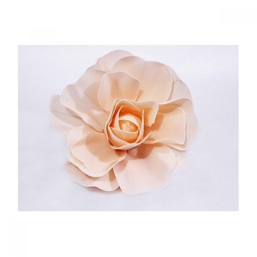 Flori Artificiale Trandafir Latex 30cm Somon