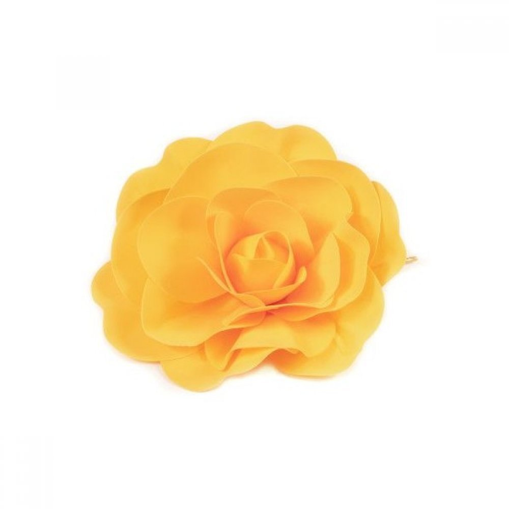 Flori Artificiale Trandafir Latex 40cm Galben
