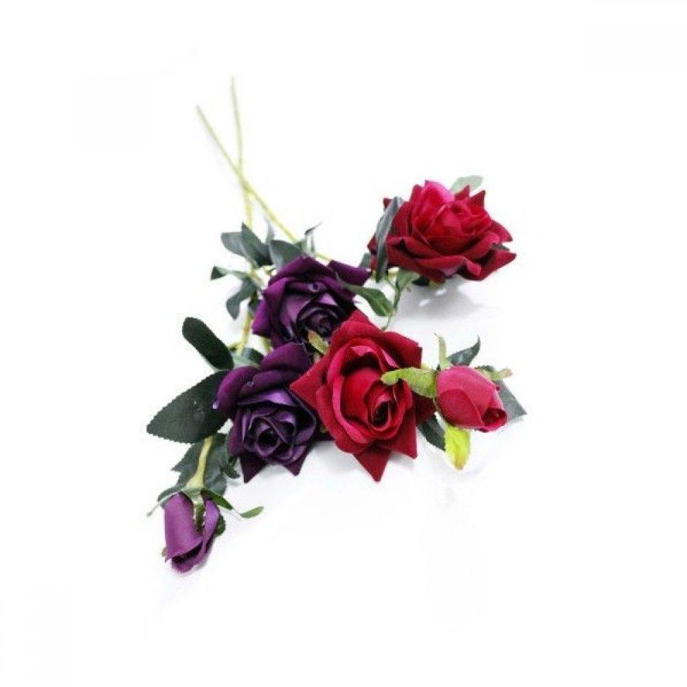 Flori Artificiale Trandafiri 3 Flori/Fir