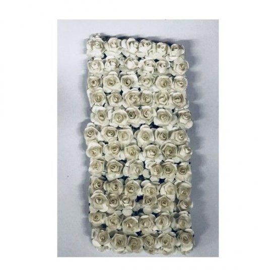 Flori Artificiale Trandafiri Mici Din Hartie 144/Set