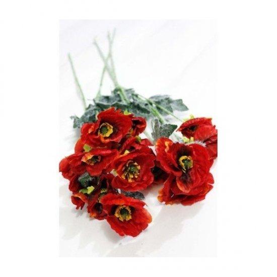 Flori Artificiale maci 70Cm Cu 5 Flori/Fir