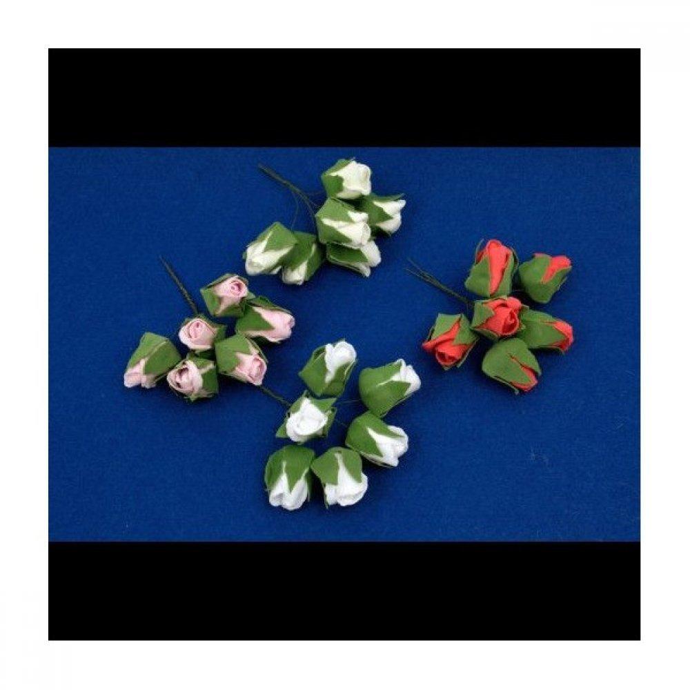 Flori Latex Boboci Trandafir 6/set 5cm/3cm 12seturi/punga