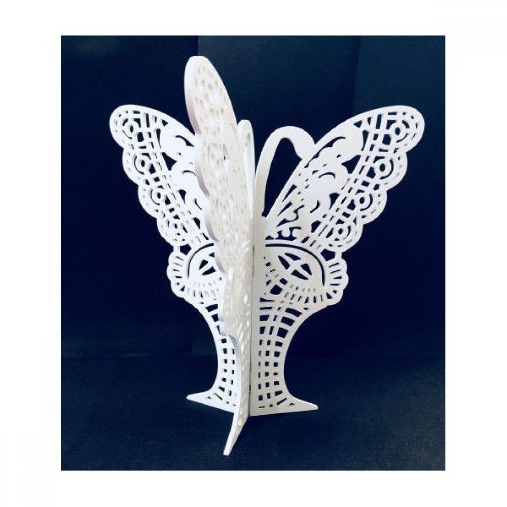 Fluture Perforat PVC Alb