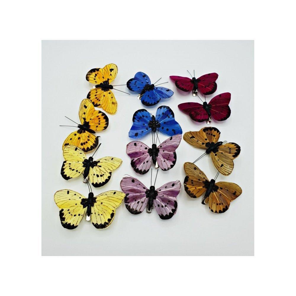 Accesorii florale Fluturi cu pete set 12