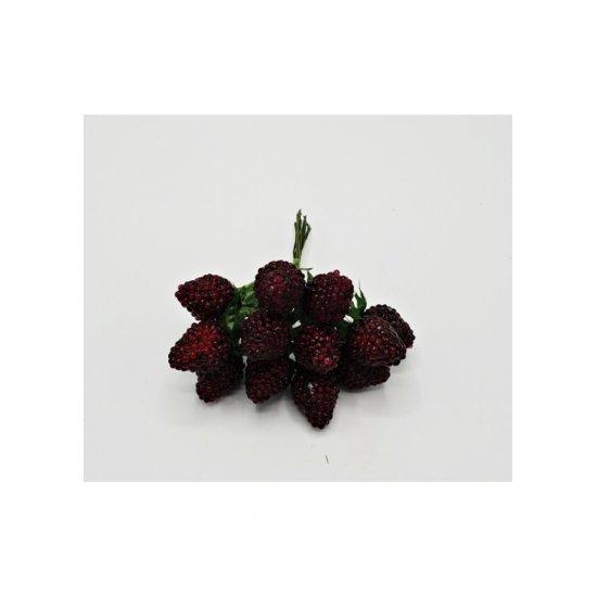 Fructe si legume artificiale Fragi buchet 12 fire