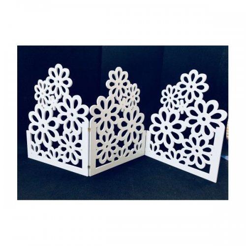 Gardulet Perforat Cu Flori din PVC alb