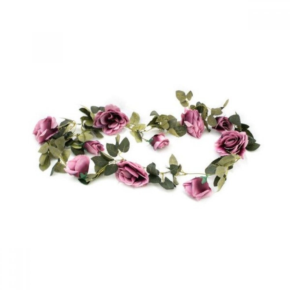 Ghirlanda Cu Trandafiri Mov 2/set