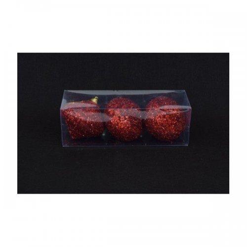 Globulete Forma Lampion Cu Sclipici 3/set