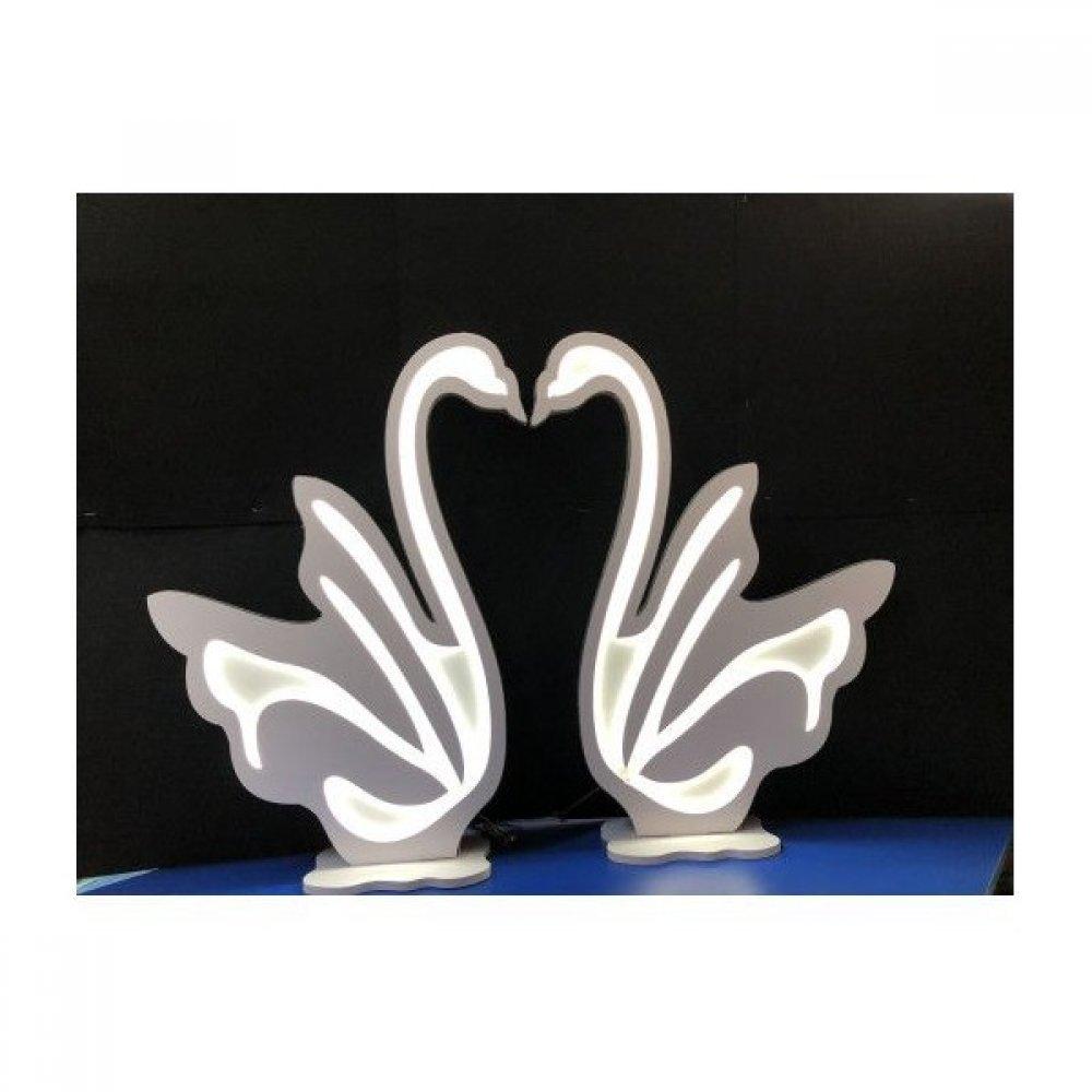 Lebede Luminoase Din Plastic 2/set