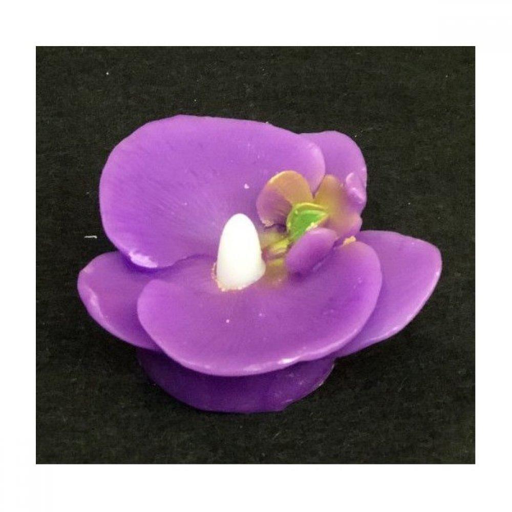 Lumanare Plutitoare Orhidee Ceara Cu Led Mov