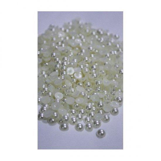 Margele Plastic Jumatati Perle 8mm
