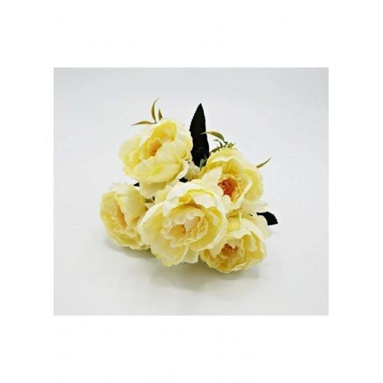 Flori artificiale model Mini bujori buchet 5 fire