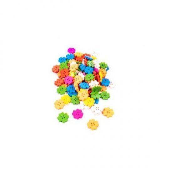 Nasturi Din Lemn Floare Colorati 1 Cm