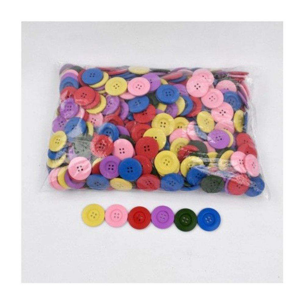 Nasturi Lemn Mix Culori 3.5cm 50/pg