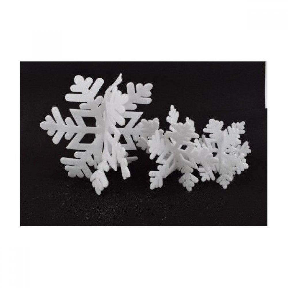 Ornament Craciun Fulg 3/set 3D