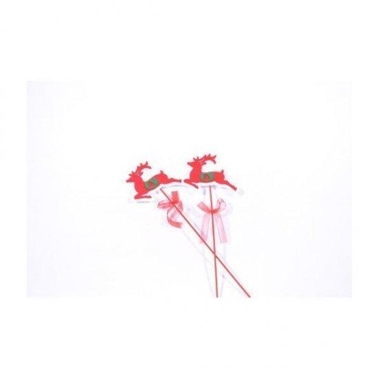 Ornament Craciun Ren Textil Cu Bat12/Set