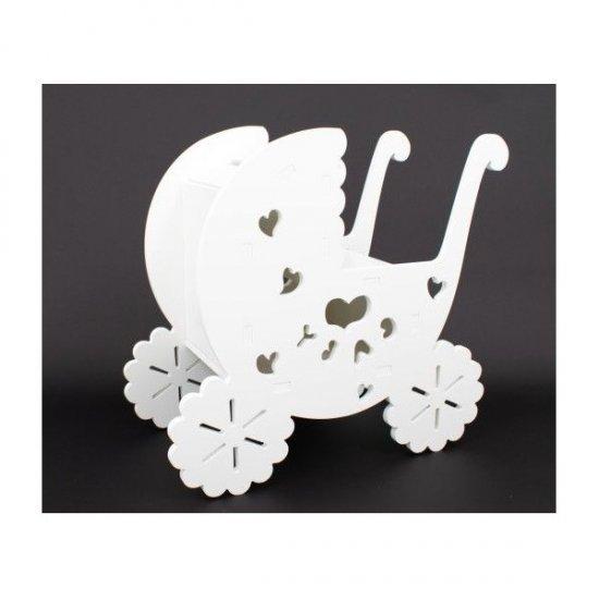 Ornament Din Plastic Carucior Alb