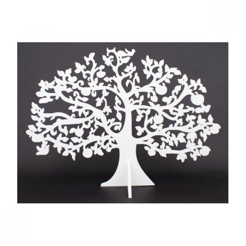 Ornament Din Plastic Copac Alb