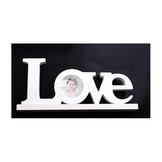 Ornamente Din Lemn Scris Love Cu Poza