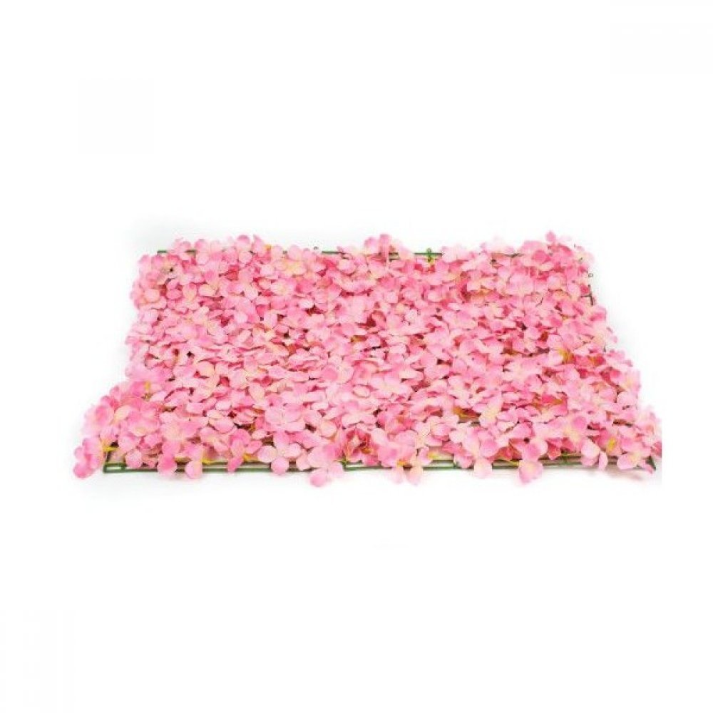Panou Flori Artificiale Roz 40cm/60cm Diametrul florii 3cm