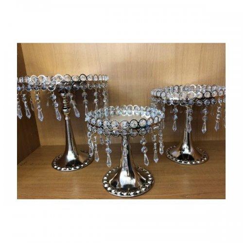 Platou Metal Cu Turturi Plastic 3/set Auriu
